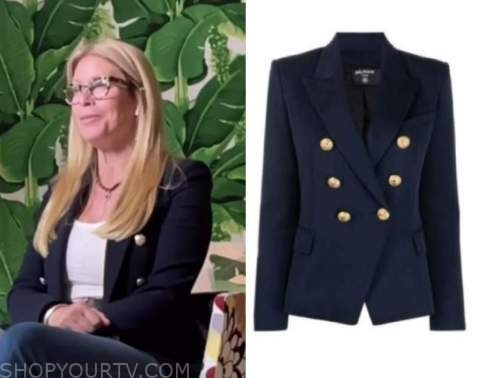 jill martin, the today show, navy blue double breasted blazer