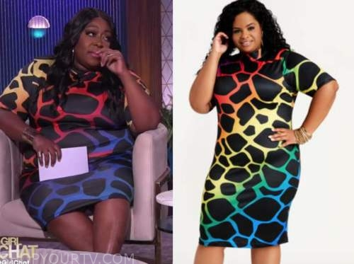 loni love, the real, animal ombre dress