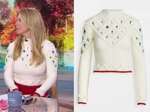 the today show, ivory floral sweater, jill martin