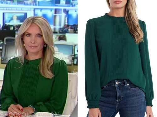 dana perino, america's newsroom, green pleated top