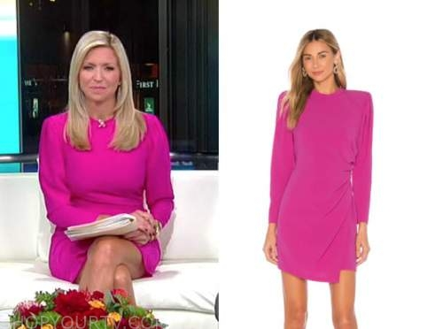 ainsley earhardt, fox and friends, hot pink dress