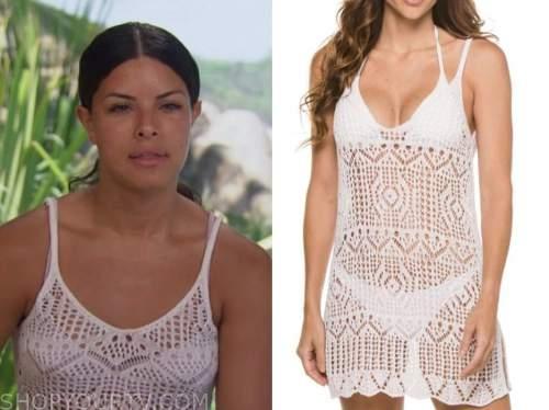 mari pepin, bachelor in paradise, white crochet dress