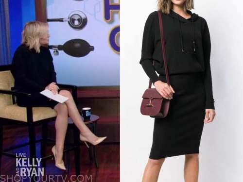 dr. jennifer ashton, live with kelly and ryan, black hooded dress