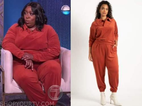 the real, corduroy top and pants, loni love