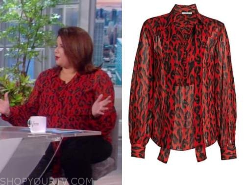ana navarro, the view, red leopard blouse
