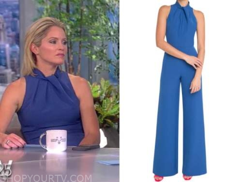 the view, sara haines, blue jumpsuit