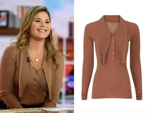 the today show, jenna bush hager, camel collar sweater