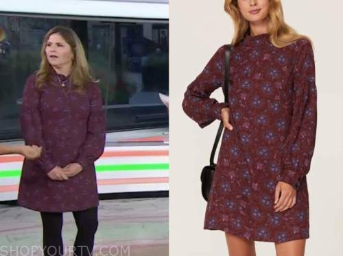 the today show, purple floral dress, jenna bush hager