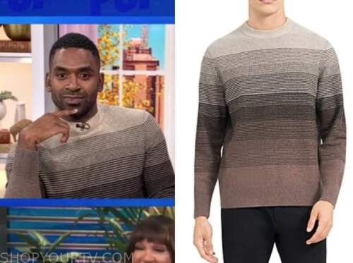 justin sylvester, brown striped sweater, the today show, E! news, daily pop