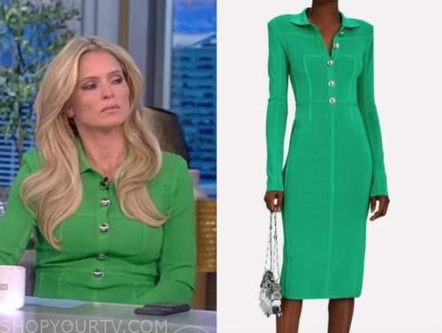 the view, sara haines, green polo dress