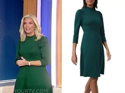 janice dean, fox and friends, green dress