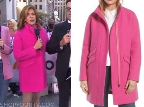 the today show, pink coat, hoda kotb