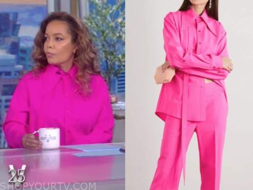 sunny hostin, the view, hot pink shirt