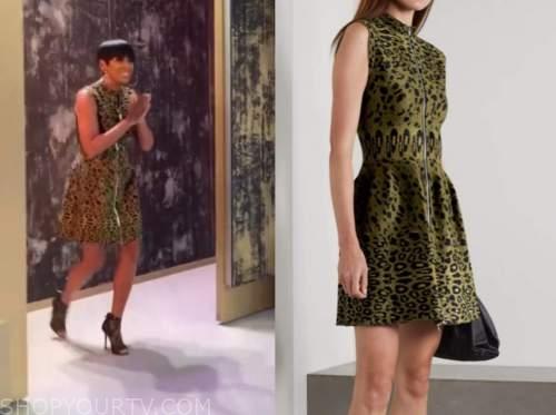 tamron hall, tamron hall show, leopard dress