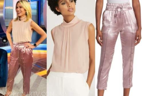 amy robach, good morning america, pink top, pink pants