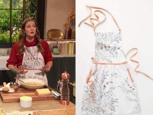 drew barrymore, drew barrymore show, floral apron