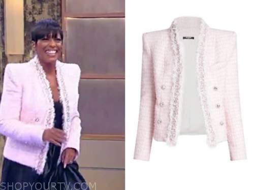 tamron hall, tamron hall show, pink tweed jacket