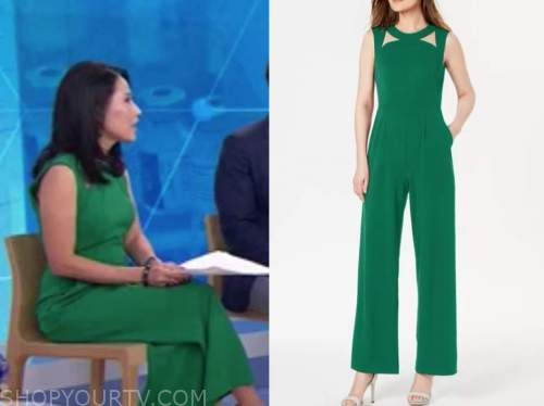 vicky nguyen, the today show, green cutout jumpsuit
