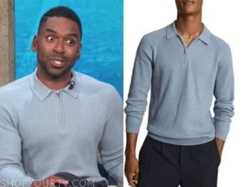 e! news, daily pop, blue polo shirt, justin sylvester