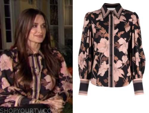 kyle richards, floral striped blouse, E! news, daily pop