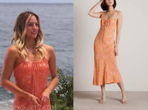 bachelor in paradise, kendall long, orange floral dress