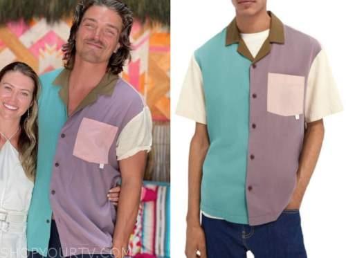 dean unglert, bachelor in paradise, colorblock shirt