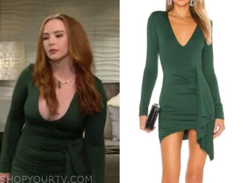 mariah copeland, camryn grimes, green dress, the young and the restless
