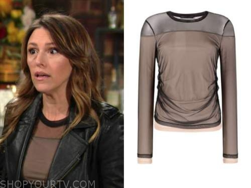 chloe mitchell, the young and the restless, elizabeth hendrickson, mesh top