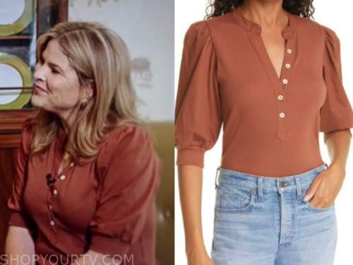 the today show, jenna bush hager, rust brown top