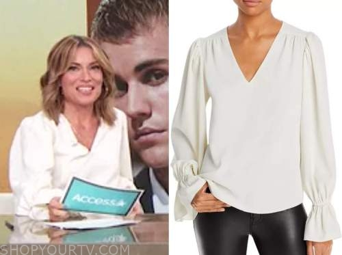 access daily, kit hoover, ivory blouse