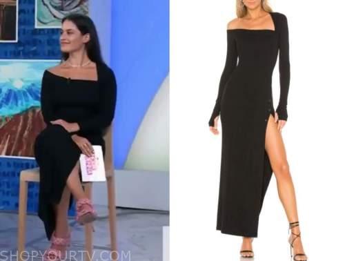 donna farizan, the today show, black knit asymmetric dress