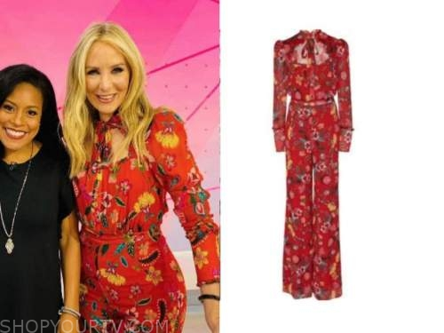 chassie post, the today show, red floral jumpsuit