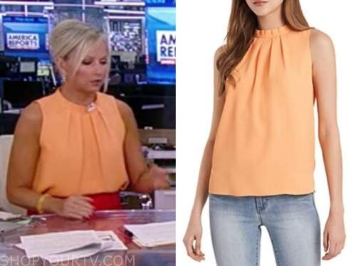 sandra smith, america reports, orange top