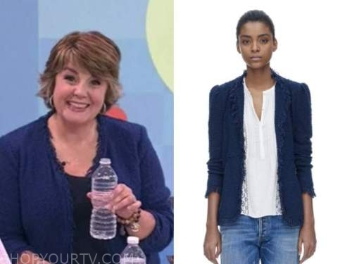jill bauer, the today show, blue tweed fringe jacket