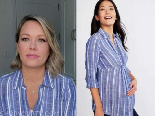 dylan dreyer, the today show, blue striped maternity shirt