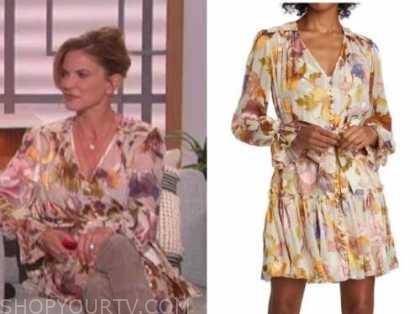 natalie morales, floral dress, the talk