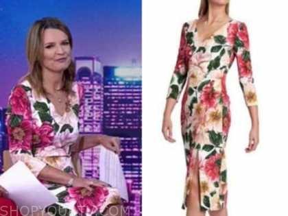 savannah guthrie, the today show, floral sheath dress