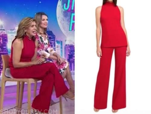 hoda kotb, the today show, red two piece jumpsuit