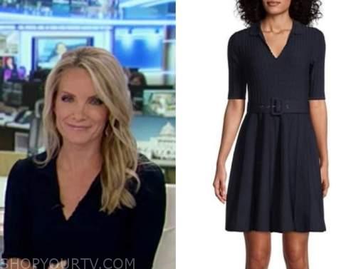 america's newsroom, dana perino, navy blue knit dress