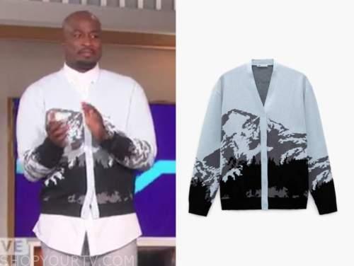 akbar Gbajabiamila, the talk, mountain cardigan sweater