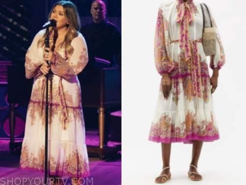 kelly clarkson, the kelly clarkson show, paisley midi dress
