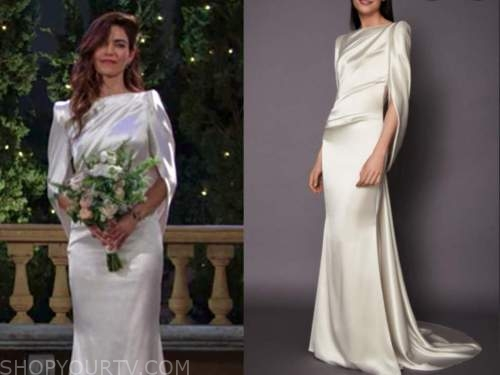 victoria newman, amelia heinle, the young and the restless, cape wedding gown