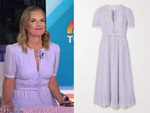 savannah guthrie, the today show, purple pleated dress