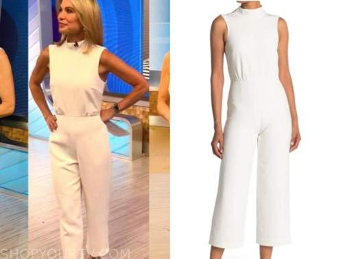 amy robach, good morning america, white jumpsuit