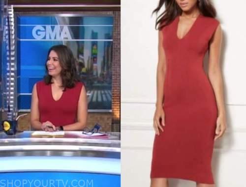 cecilia vega, good morning america, red dress