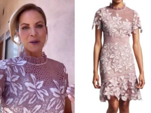natalie morales, pink lace dress, the talk