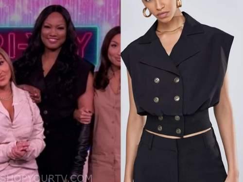 garcelle beauvais, the real, black blazer top