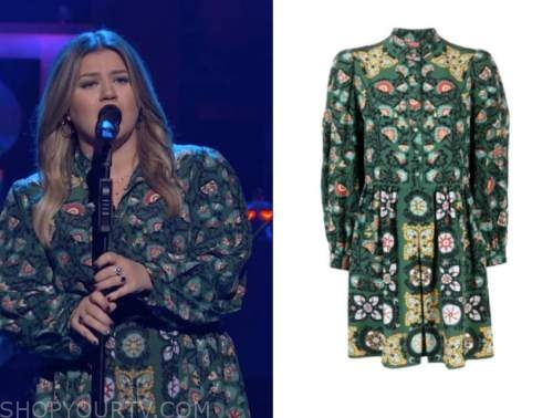 the kelly clarkson show, kelly clarkson, green floral dress