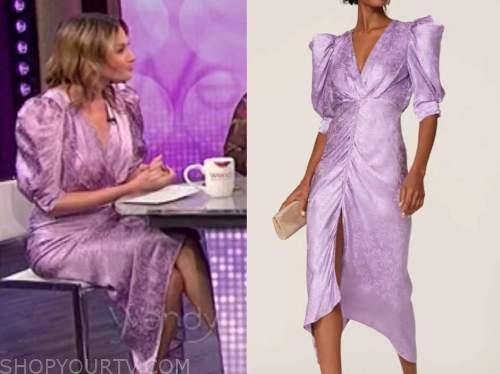 elizabeth wagmeister, purple dress, the wendy williams show