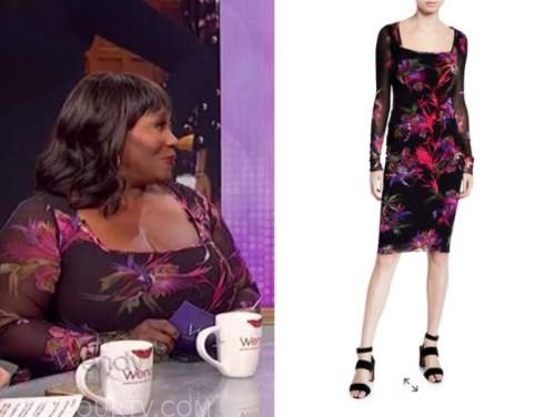 bevy smith, the wendy williams show, mesh floral dress